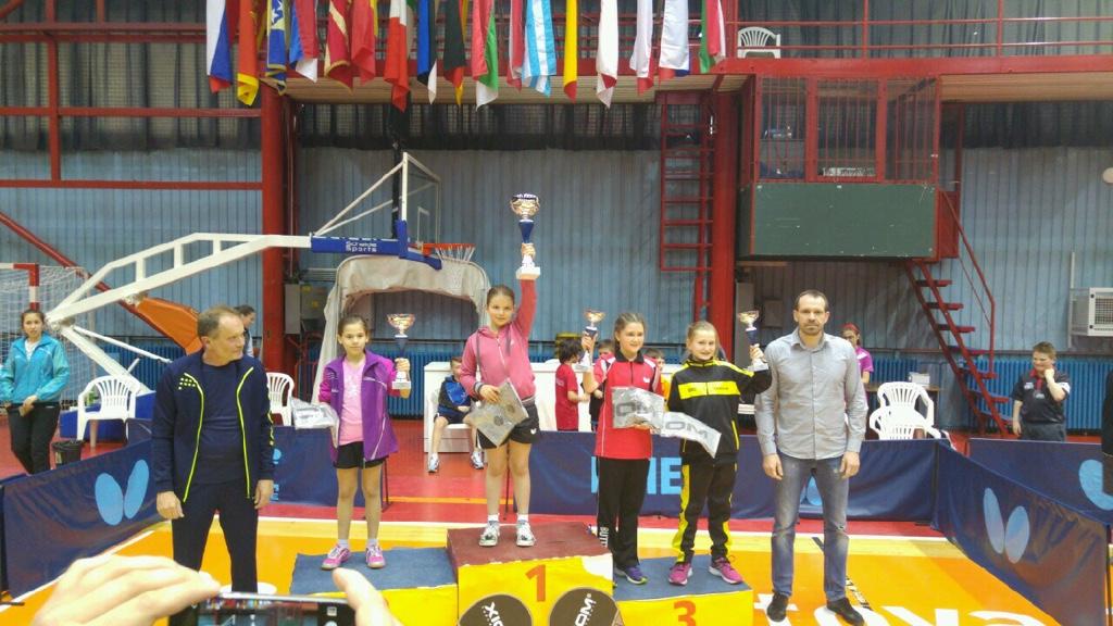 Kiara gewinnt ITTF-Turnier in Zagreb in der Kategorie U-13