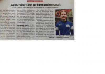 Kiara, Kleine Zeitung, 24.5.2018, 2