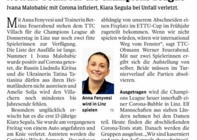 Kleine Zeitung, 02.12.2020
