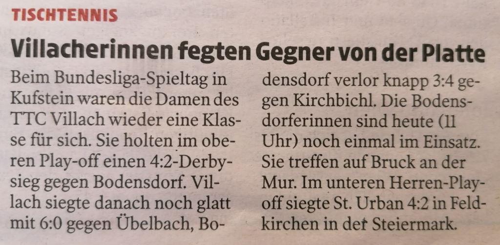 Kleine Zeitung, 31.1.2021
