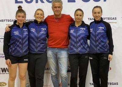ETTU Mannschaftsfoto mit Boss, Mai 2021, in Serbien