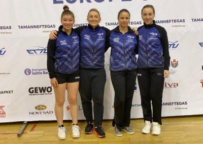 Mannschaft ETTU in Serbien